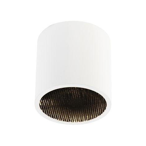 QAZQA Diseño Foco diseño blanco - IMPACT Honey Aluminio Cilíndra Adecuado para LED Max. 1 x 50 Watt