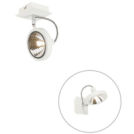 QAZQA Diseño Plafón diseño blanco 4-luces ajustable - NOX Acero Cuadrada Adecuado para LED Max. 4 x 40 Watt