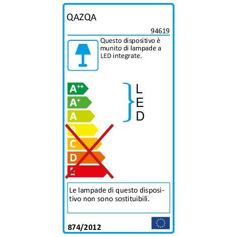 QAZQA Faretto bart - Moderno - Plastico,Metallo - Acciaio - Cubo Non sostituibile Max. 2 x 8 Watt - 94619