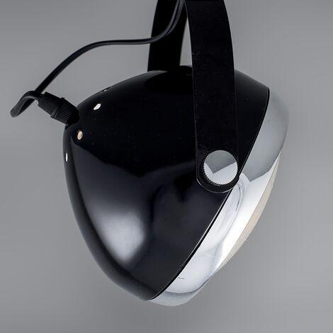 QAZQA Faretto Biker - Industriale - Vetro,Metallo - Nero/Cromo - Tondo Max. 4 x Watt - 96114