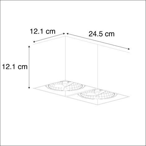 QAZQA Faretto box - Design - Alluminio - Bianco - Allungato G9 Max. 2 x 3 Watt - 89949