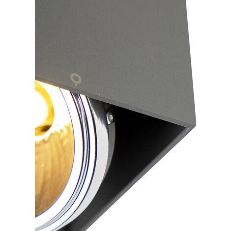QAZQA Faretto box - Design - Alluminio - Grigio - Quadrato/Cubo G9 Max. 1 x 3 Watt - 99077
