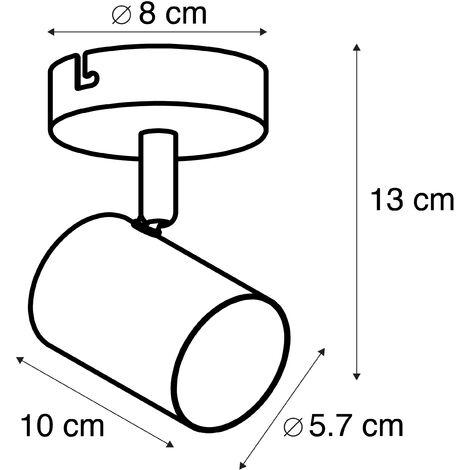 QAZQA Faretto jeana - Moderno - Acciaio - Bianco - Tondo Max. 1 x Watt - 93284