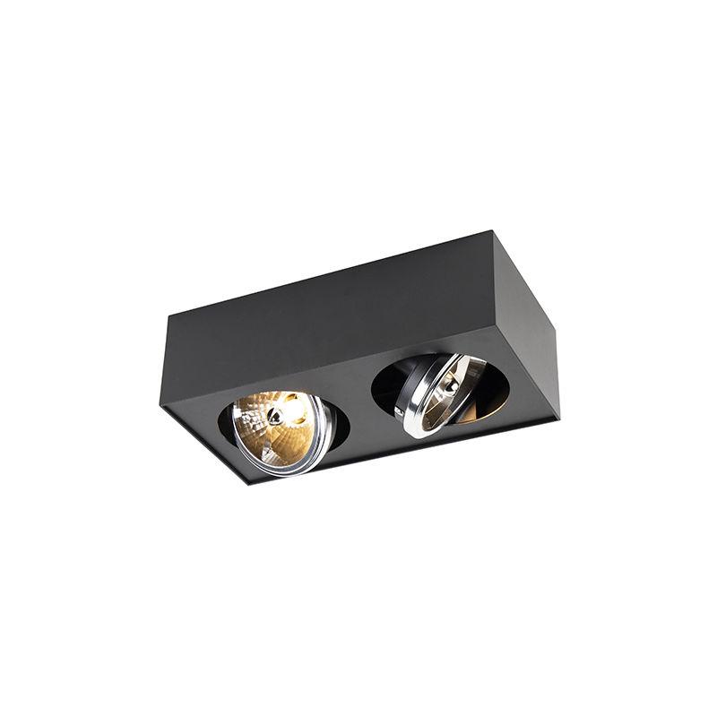 QAZQA Faretto kaya - Moderno - Alluminio,Acciaio - Nero - Allungato G9 Max. 2 x 3 Watt