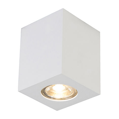 QAZQA Faretto quba - Design - Acciaio - Bianco - Cubo Max. 1 x Watt