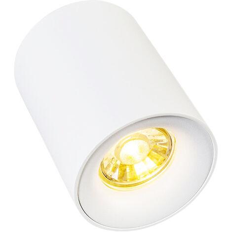 QAZQA Faretto ronda - Design - Acciaio - Bianco - Cilindro Max. 1 x Watt - 92687