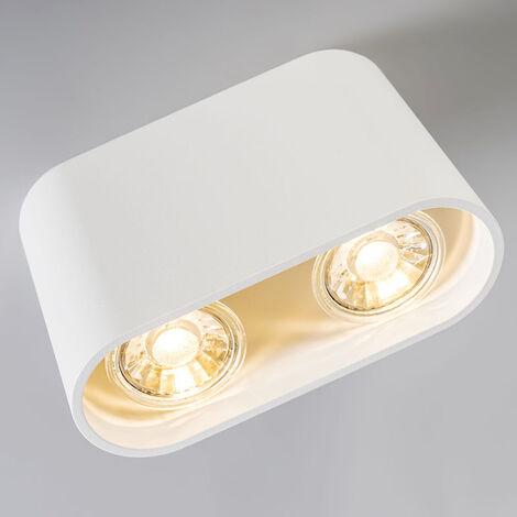 QAZQA Faretto ronda - Design - Metallo - Bianco - Ovale Max. 2 x Watt - 92691