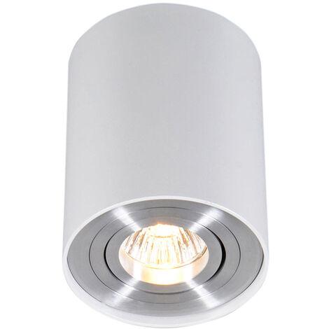 QAZQA Faretto rondoo up - Design - Alluminio - Bianco - Cilindro Max. 1 x Watt - 45519
