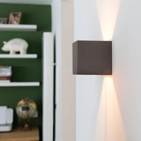 QAZQA Industrial Aplique industrial hormigón - BOX Piedra/cemento Cuadrada Adecuado para LED Max. 1 x 25 Watt