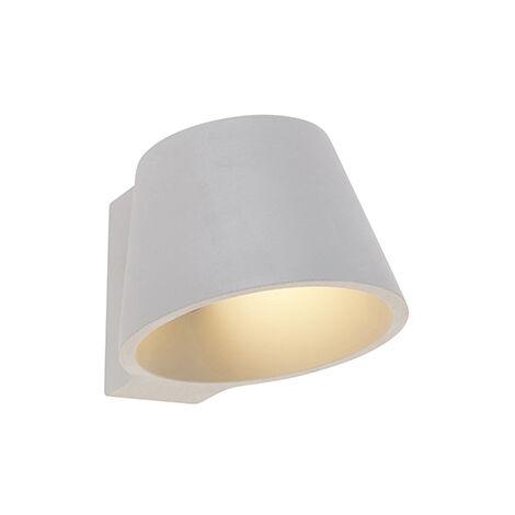QAZQA Industrial Aplique industrial hormigón - CUP Piedra/cemento Redonda Adecuado para LED Max. 1 x 25 Watt