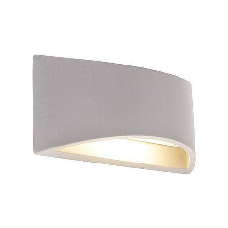 QAZQA Industrial Aplique industrial hormigón gris - CREIL Piedra/cemento Otros Adecuado para LED Max. 1 x 25 Watt