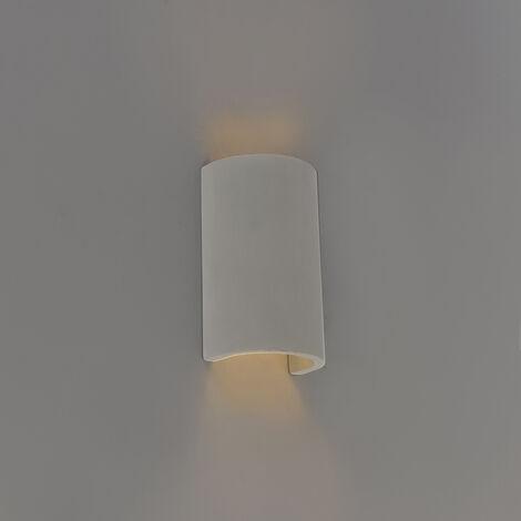 QAZQA Industrial Aplique industrial medio redondo gris hormigón - MEAUX Piedra/cemento Redonda Adecuado para LED Max. 1 x 25 Watt