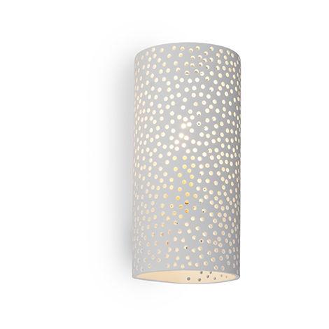 QAZQA Industrial Aplique vintage cilíndrico blanco yeso - MAHOU Cilíndra Adecuado para LED Max. 1 x 40 Watt