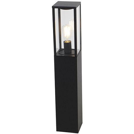 QAZQA Industrial Baliza industrial negra 80cm IP44 - CHARLOIS Aluminio /Plástico Rectangular Adecuado para LED Max. 1 x 40 Watt