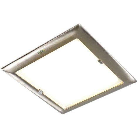 QAZQA Industrial Foco empotrado DOBLO Vidrio /Acero Cuadrada Adecuado para LED Max. 2 x 30 Watt
