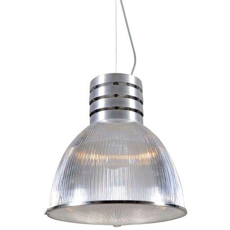 QAZQA Industrial Lámpara colgante industrial acero - Industria Plástico /Acero Redonda Adecuado para LED Max. 1 x 100 Watt