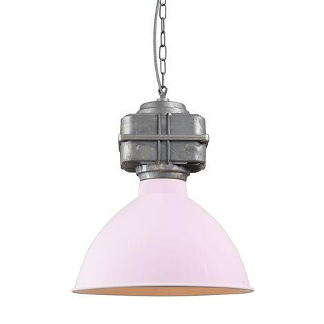 QAZQA Industrial Lámpara colgante industrial pequeña rosa mate - Sicko Metálica Redonda Adecuado para LED Max. 1 x Watt