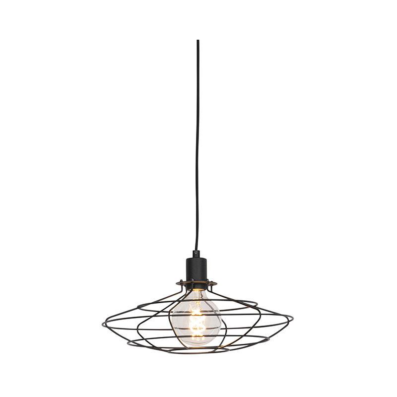 QAZQA Lampada a sospensione Laurent hl - Design - Acciaio - Nero - Organico Max. 1 x Watt
