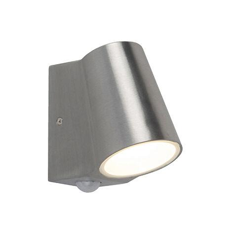 In Acciaio Inox LED Lampada Parete Rilevatore Di Movimento Lampada Terrazza Faretto da Giardino Cortile