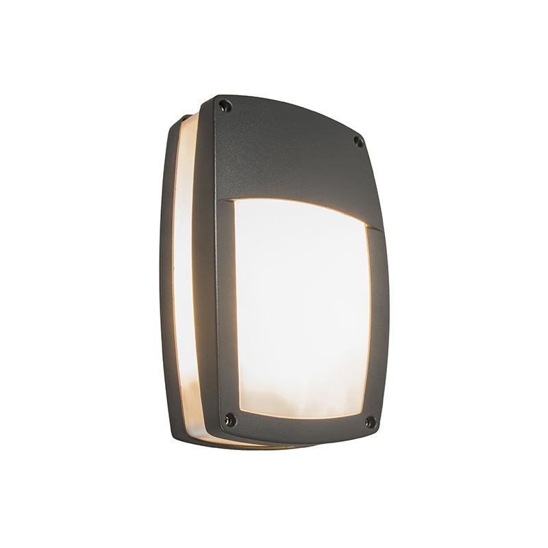 QAZQA Lampada da soffitto/parete Storm O - Moderno - Alluminio,Plastico - Grafite - Allungato Max. 2 x Watt