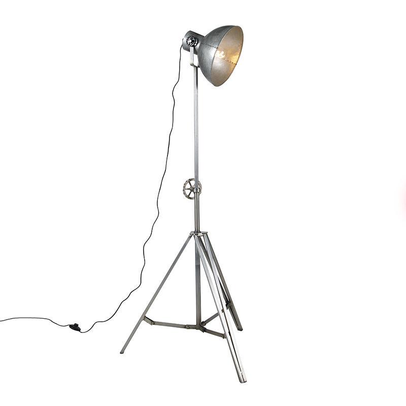 Lampada da tavolo tripode samia - Industriale - Acciaio - Acciaio - Oblungo Max. 1 x Watt - Qazqa