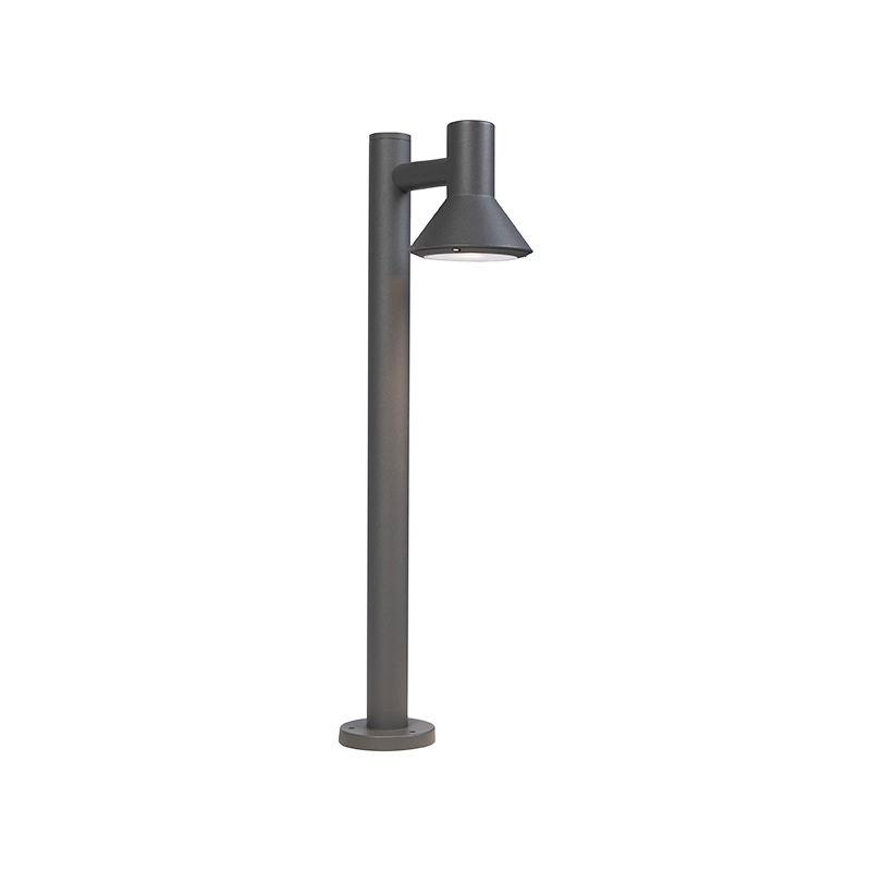Lampada da terra humilis - Moderno - Alluminio,Vetro - Grigio/Grafite - Organico Max. 1 x Watt - Qazqa