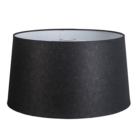 QAZQA Lino Pantalla de lino negro 45/25 , Redonda / Cónica Pantalla lámpara colgante,Pantalla lámpara de pie