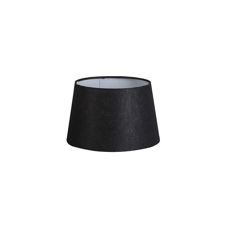 QAZQA Lino Pantalla lino negro 25/16 , Redonda / Cónica Pantalla lámpara colgante,Pantalla lámpara de pie - 92151