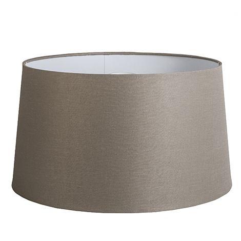 QAZQA Lino Pantalla lino VISÓN 45 cm , Redonda / Cónica Pantalla lámpara colgante,Pantalla lámpara de pie
