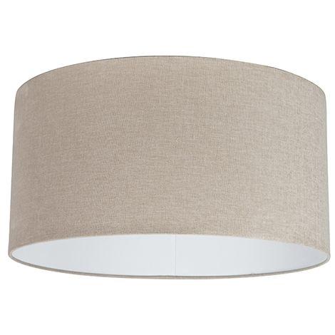 QAZQA Moderno Algodón Pantalla tela marrón claro 50/50/25 , Redonda / Cilíndrica Pantalla lámpara colgante,Pantalla lámpara de pie