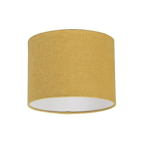 QAZQA Moderno Algodón y poliéster Pantalla tela amarillo maíz 20/20/15 cilindro , Redonda / Cilíndrica Pantalla lámpara colgante,Pantalla lámpara de pie