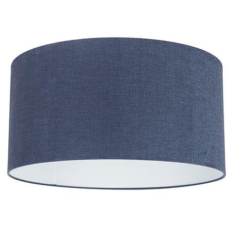 QAZQA Moderno Algodón y poliéster Pantalla tela azul oscuro 50/50/25 , Redonda / Cilíndrica Pantalla lámpara colgante,Pantalla lámpara de pie