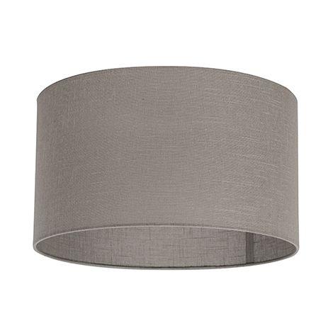 QAZQA Moderno Algodón y poliéster Pantalla tela gris visón 35/35/20 , Redonda / Cilíndrica Pantalla lámpara colgante,Pantalla lámpara de pie