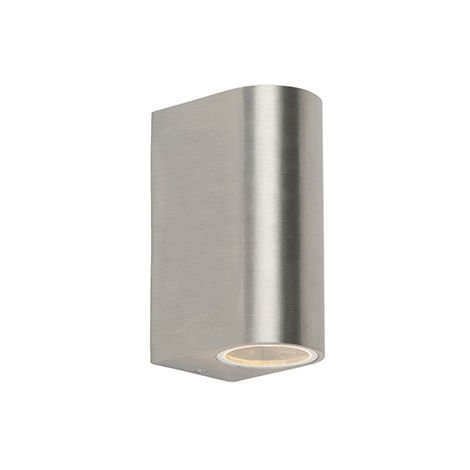 QAZQA Moderno Aplique moderno aluminio IP44 - BEN 2 Rectangular Adecuado para LED Max. 2 x 35 Watt