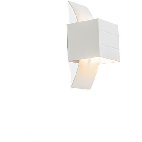 QAZQA Moderno Aplique moderno blanco - Amy Aluminio Cubo /Cuadrada /Rectangular Adecuado para LED Max. 1 x 40 Watt