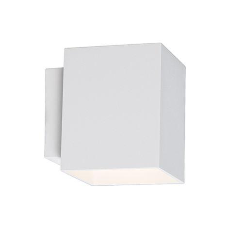 QAZQA Moderno Aplique moderno cuadrado blanco - SOLA Aluminio Cuadrada Adecuado para LED Max. 1 x 40 Watt