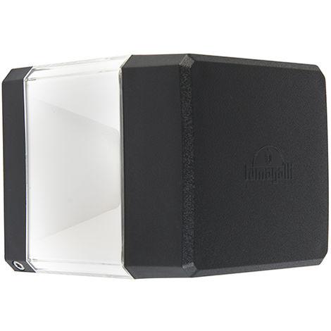QAZQA Moderno Aplique moderno cuadrado negro LED IP55 - ELISA Plástico Cuadrada Adecuado para LED Max. 1 x 3 Watt