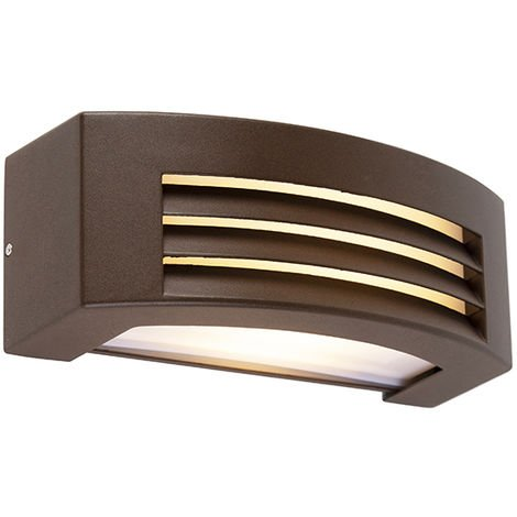 QAZQA Moderno Aplique moderno óxido IP44 - HURRICANE 1 Aluminio /Plástico Rectangular Adecuado para LED Max. 1 x 40 Watt