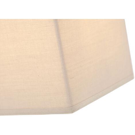 QAZQA Moderno Aplique rústico beige - VETE Textil Rectangular Adecuado para LED Max. 1 x 40 Watt