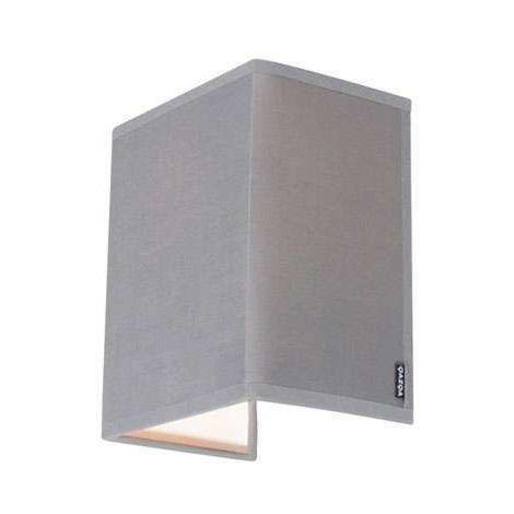 QAZQA Moderno Aplique rústico gris - VETE Textil Rectangular Adecuado para LED Max. 1 x 40 Watt