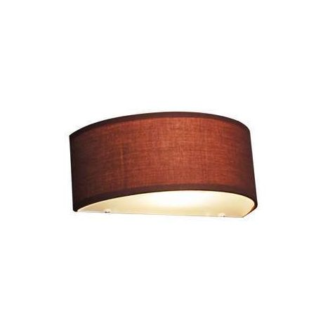 QAZQA Moderno Aplique rústico semicircular marrón - DRUM Vidrio /Textil Redonda /Alargada Adecuado para LED Max. 1 x 40 Watt