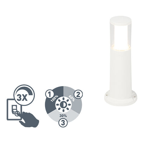 QAZQA Moderno Baliza moderna blanca 80cm IP55 GU10 - CARLO Plástico Alargada Adecuado para LED Max. 1 x 3.5 Watt