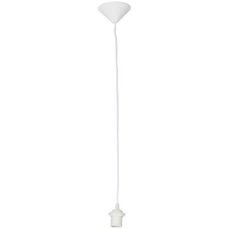 QAZQA Moderno Colgante 80 cm E27 blanco Plástico Redonda Adecuado para LED Max. 1 x Watt