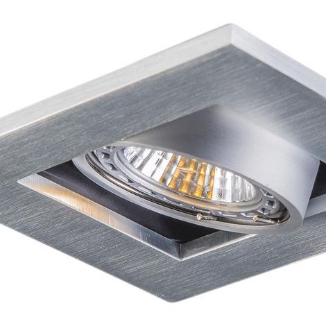 QAZQA Moderno Conjunto de 10 focos empotrados de aluminio - Qure Cuadrada Adecuado para LED Max. 10 x Watt