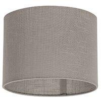 QAZQA Moderno Di cotone poliestere Paralume cilindrico 20/20/15 grigio talpa , Rotondo / Cilindro Paralume per lampade a sospensione,Paralume per lampade a terra