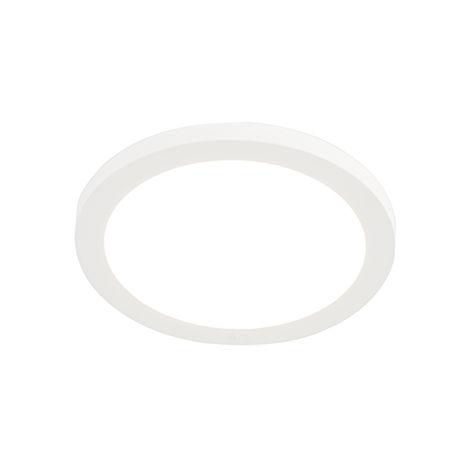 QAZQA Moderno Downlight moderno panel blanco 18W LED - TRANS Plástico Redonda Incluye LED Max. 1 x 18 Watt