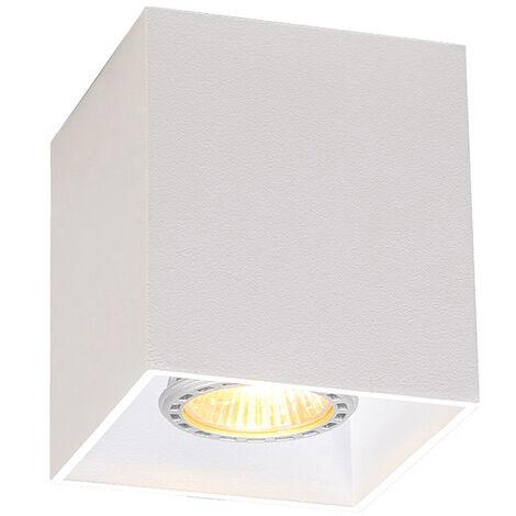 QAZQA + Moderno Foco blanco bombilla-WiFi GU10 - QUBO 1 Aluminio Cubo Adecuado para LED Max. 1 x 5 Watt