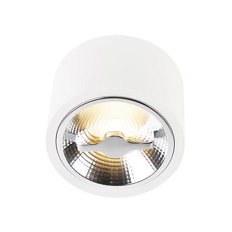QAZQA Moderno Foco blanco1xG53 AR111 regulable 12W - EXPERT Aluminio Redonda Adecuado para LED Max. 1 x 12 Watt