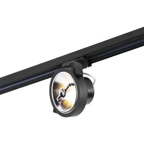 QAZQA Moderno Foco de carril LED trifásico negro 15W 2700K incluido AR111- Expert Aluminio Otros Adecuado para LED Max. 1 x 15 Watt