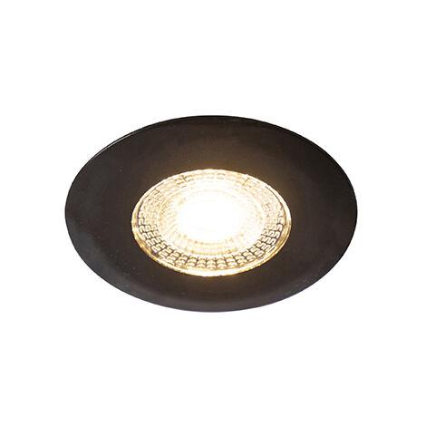 QAZQA + Moderno Foco empotrable negro LED regulable-3-estados - ULO Plástico Redonda Incluye LED Max. 1 x 5 Watt
